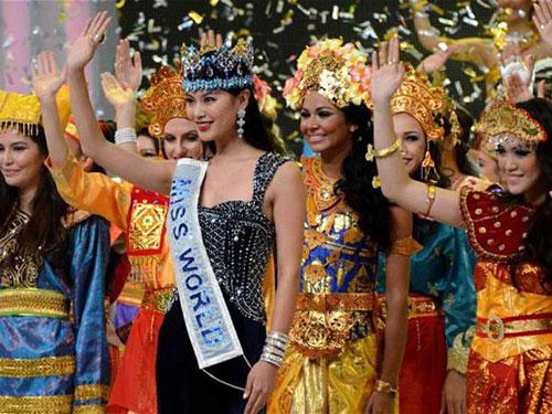 Hình ảnh cuộc thi Hoa hậu Thế giới 2013.Ảnh: tư liệu