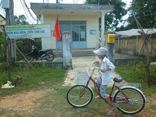 Bưu điện Văn hóa xã Tam Lộc (huyện Phú Ninh) luôn trong tình trạng vắng khách  Ảnh: TRẦN THƯỜNG