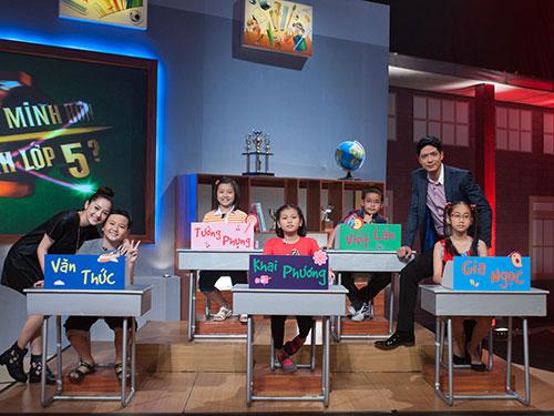 MC Bình Minh dẫn chương trình Ai thông minh hơn học sinh lớp 5. (Ảnh do nghệ sĩ cung cấp)