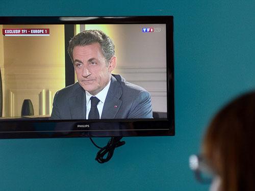 Cựu Tổng thống Nicolas Sarkozy phản công trên đài TF1 Ảnh: RTL