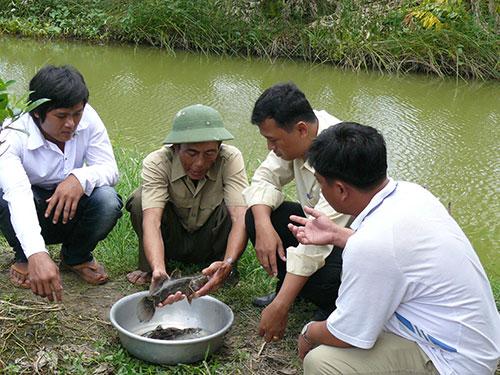 Thương binh Lê Văn Hòa giúp đỡ người nghèo cách thức sản xuất