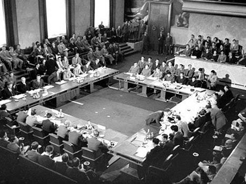 Quang cảnh Hội nghị Genève năm 1954 Ảnh: TƯ LIỆU