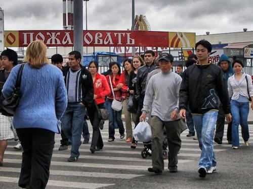 Người Trung Quốc rất đông ở Viễn Đông Nga Ảnh: NEWSRU