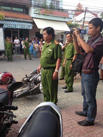 Thượng tá Đoàn Văn Thanh - Trưởng Công an TP Mỹ Tho, tỉnh Tiền Giang - chỉ đạo bắt giữ nhóm đối tượng côn đồ chém người Ảnh: MINH SƠN