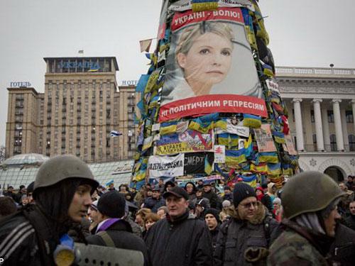 Thủ lĩnh đối lập Yulia Tymoshenko được rất nhiều người dân Ukraine yêu mếnẢnh: AP