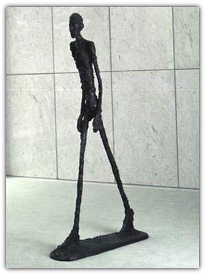 Bức tượng L'homme qui marche I  Ảnh: Weirdworm.com