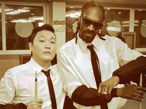 Psy và Snoop Dogg sẽ hợp tác trong MV mới của rapper Hàn Quốc nhan đề Hangover Ảnh: Twitter