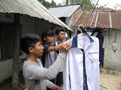 Có trường nội trú là ước mơ của nhiều học sinh đang phải ở trọ tại thị trấn La Hai, huyện Đồng Xuân, tỉnh Phú Yên Ảnh: HỒNG ÁNH