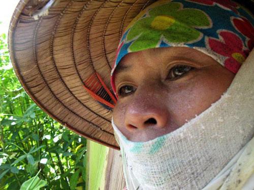 Một bức trong bộ ảnh Mẹ tôi của Lê Thị Ngân