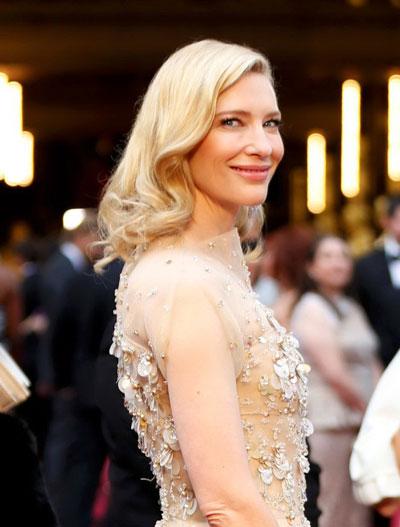 Cate Blanchett trên thảm đỏ Oscar 2014. Nguồn: Reuters