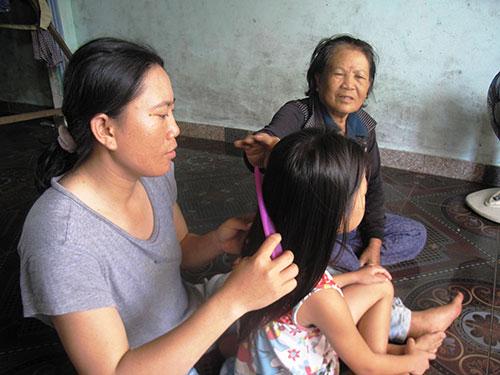 Cô con gái ngoan ngoãn, học giỏi là niềm tự hào của chị Nguyễn Thị Thu MaiẢnh: HỒNG ÁNH