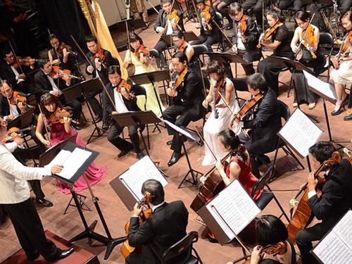 Mỗi năm, khi chương trình Giai điệu mùa thu được tổ chức, nhiều nhân tài âm nhạc hàn lâm mới có dịp trở về. (Ảnh do Nhà hát Giao hưởng Nhạc vũ kịch TP HCM cung cấp)