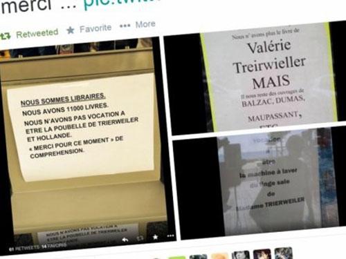 Nhiều nhà sách từ chối bán cuốn Merci pour ce moment của bà Trierweiler Ảnh: Midi Libre