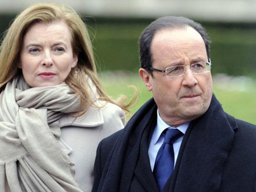 Bà Trierweiler và ông Hollande hôm 25-1-2014, ngày rạn nứt cuộc tình 9 năm Ảnh: LE NOUVEL OBSERVATEUR