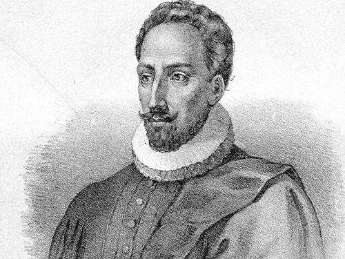 Nhà văn Miguel de Cervantes qua bức vẽ của nghệ sĩ Juan de JaureguiNguồn: Wikipedia