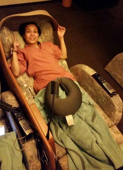 Hình ảnh chụp nghệ sĩ Việt Hương phải qua đêm tại một cơ sở massage ở Nhật. (Ảnh do nghệ sĩ cung cấp)