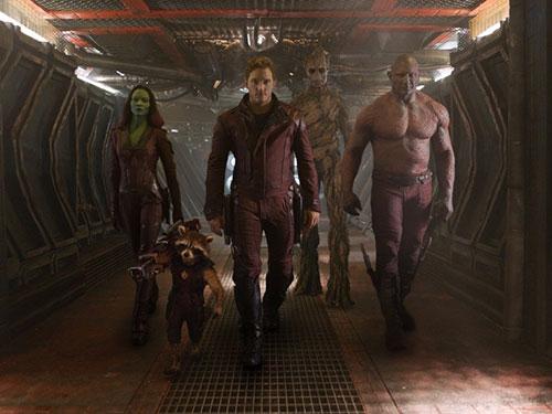 Cảnh trong phim Vệ binh dải ngân hà - Tác phẩm được đánh giá là thành công bất ngờ của mùa phim hè 2014. (Ảnh do CGV cung cấp)