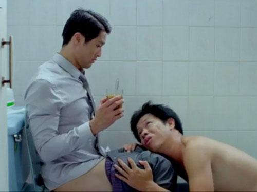 Cảnh trong phim Tèo em - phim bị giới chuyên môn chỉ trích hài nhảm cũng được tham gia tranh giải Cánh diều 2013. (Ảnh do đoàn phim cung cấp)