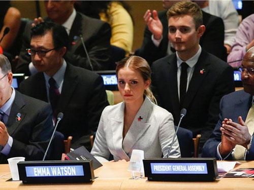 Emma Watson tại trụ sở Liên Hiệp Quốc ở New York