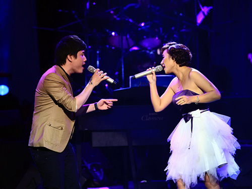 Một tiết mục biểu diễn trong Bài hát Việt 2013 (Ảnh do chương trình cung cấp)
