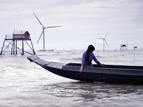 Cảnh trong phim Nước - 2030. (Ảnh do đoàn phim cung cấp)