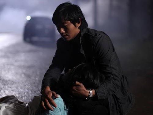 Quý Bình và Nhã Phương trong phim Quả tim máu
