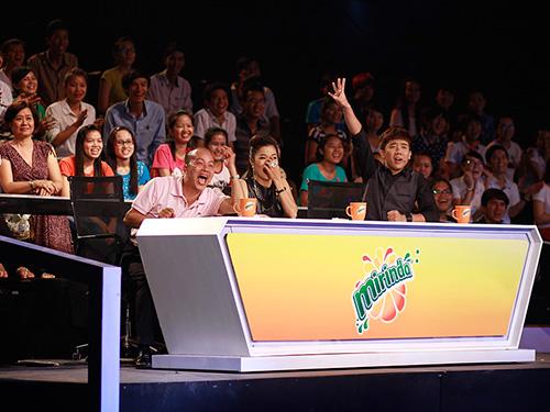 Ba nhân vật giữ vai trò giám khảo: MC Trấn Thành, ca sĩ Mỹ Lệ và NSƯT Đức Hải Ảnh: BHD