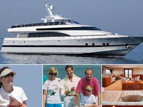 Du thuyền Fortuna và những khách mời thường xuyên của vua Juan Carlos Ảnh: DAILYMAIL