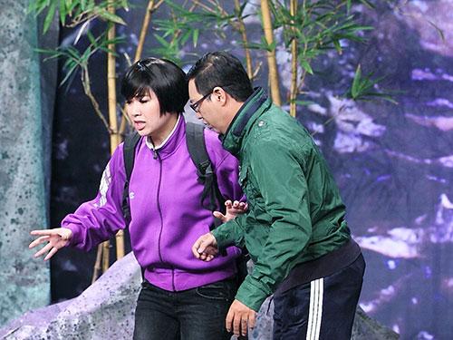 Lê Khánh và Hà Linh trong vở diễnẢnh: HTV2