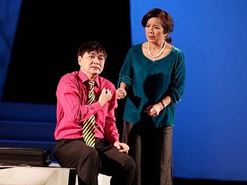 Diễn viên Quốc Thảo và Minh Trang trong vở Thiên Thiên Ảnh: ĐẠI NGÔ