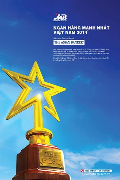 """MB - """"Ngân hàng mạnh nhất Việt Nam 2014"""""""