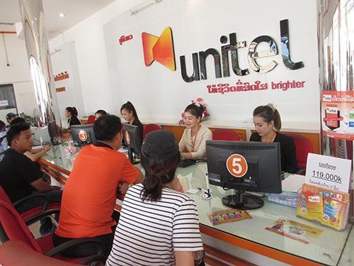 Unitel là mạng truyền thông số 1 tại Lào, đã phủ sóng toàn bộ 17 tỉnh - thành đất nước triệu voi