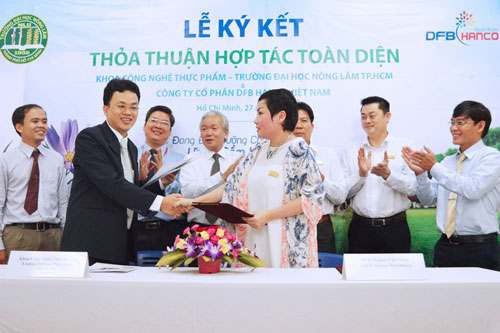 Lễ ký kết hợp tác giữa DFB Hanco với Khoa Công nghệ Thực phẩm Trường ĐH Nông Lâm TP HCM