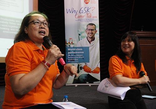 Chị Trần Thị Dương Anh, Giám đốc nhân sự cấp cao GSK Việt Nam (trái) và BS Nguyễn Thị Tường Vi, Giám đốc đối ngoại GSK Việt NamẢnh: C.T.V