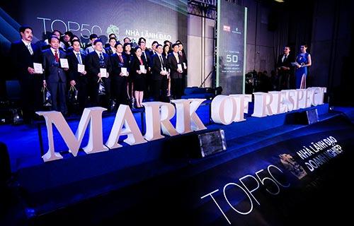 Các doanh nhân được vinh danh trong lễ trao giải thưởng doanh nhân Mark of Respect