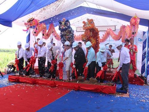 Lễ động thổ Nhà máy Sản xuất Sữa và Ngũ cốc nẩy mầm GABA DFB Hanco Việt Nam tại Khu Trung tâm Ứng dụng Công nghệ sinh học Đồng Nai
