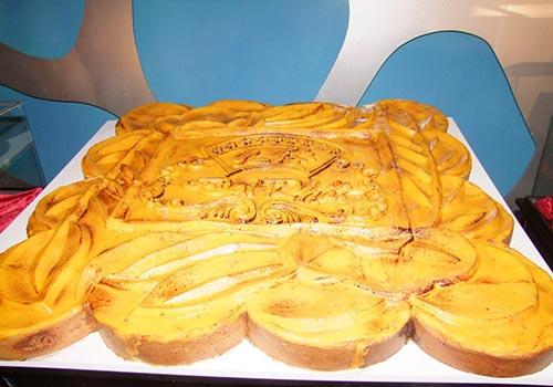 Chiếc bánh trung thu khổng lồ được trưng bày tại Crescent Mall  từ ngày 5 đến 7-9