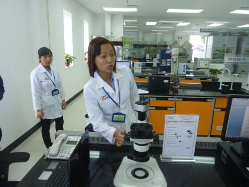 Phòng thí nghiệm với thiết bị hiện đại dùng để kiểm tra nguyên liệu sản xuất thức ăn chăn nuôi