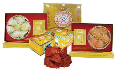 Các dòng sản phẩm yến sào đảo thiên nhiên Khánh Hòa