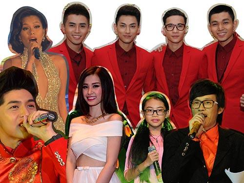 Một số nghệ sĩ tham gia chương trình Gala Mai Vàng chào Xuân 2014
