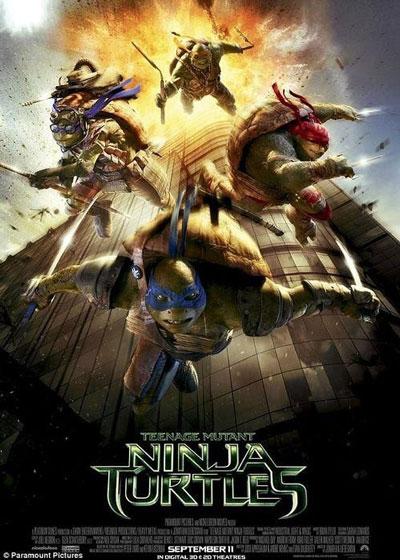 Tấm áp phích bị chỉ trích vì nhạy cảm của phim Ninja rùa Nguồn: Paramount