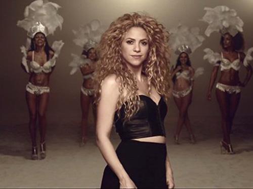 Một cảnh trong video ca nhạc La La La của Shakira