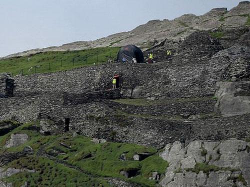 Đảo Skellig Michael ở Ireland - nơi ghi hình phần 7 loạt phim Star Wars Nguồn: BBC