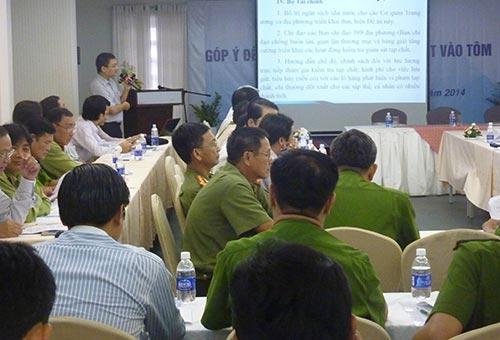 """Hội thảo góp ý đề án """"Kiểm soát ngăn chặn hành vi đưa tạp chất vào tôm nguyên liệu và sản xuất, kinh doanh sản phẩm tôm có tạp chất"""" vừa được tổ chức tại TP HCM"""