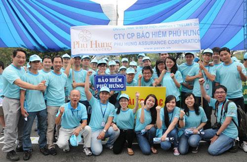 Công ty Cổ phần Bảo hiểm Phú Hưng - doanh nghiệp nhiều năm đồng hành cùng chương trình Đi bộ từ thiện Lawrence S. Ting