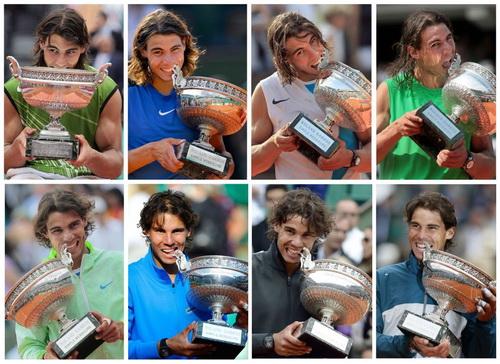 Tám lần vô địch của Nadal tại Roland Garros