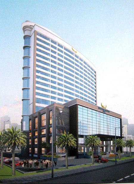 Mô hình công trình tổ hợp khách sạn 5 sao Mường Thanh Cần Thơ.