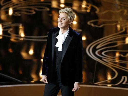Ellen DeGeneres dẫn chương trình lễ trao giải Oscar 2014 hôm 3-3 Nguồn: REUTERS