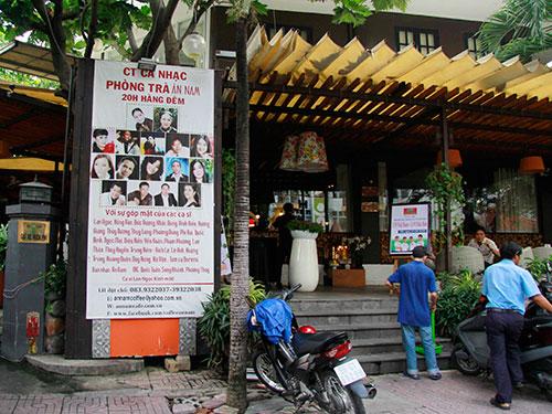 Phòng trà văn nghệ Ân Nam thường xuyên tổ chức những đêm nhạc Trịnh vào cuối tuầnẢnh: HOÀNG TRIỀU