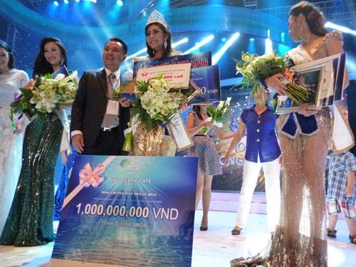 Cuộc thi Hoa hậu Đại dương thu hút thí sinh bởi giải thưởng cho hoa hậu 1 tỉ đồng. (Ảnh do ban tổ chức cung cấp)
